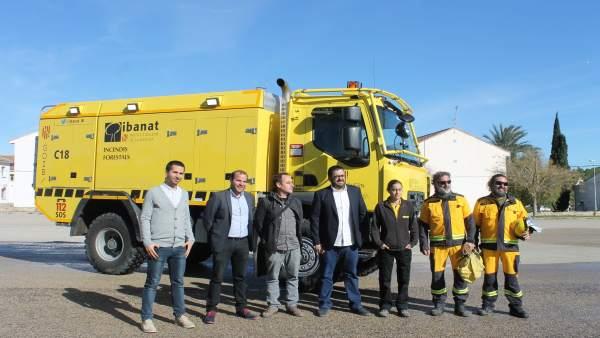 Vidal en Ibiza, presentación autobomba Ibanat