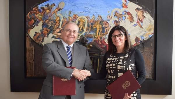 Acuerdo entre la UHU y la Fundación Atlantic Copper.