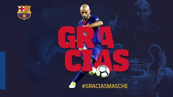 Javier Mascherano deja el Barça casi ocho años después 56d3680cae6e1