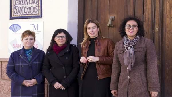 Visita PSOE a la residencia de San Carlos en Archidona