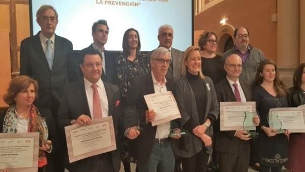 Entrega de los VII Premios 'Aragón, comprometido con la prevención'