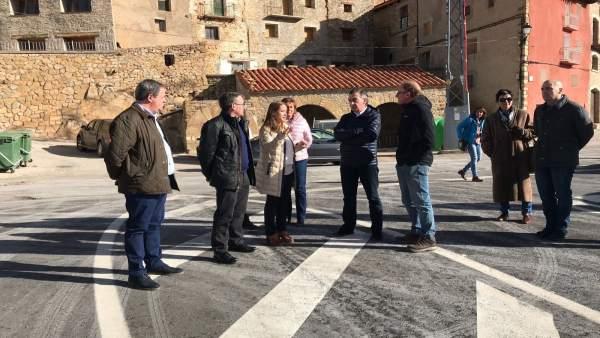 Beamonte ha visitado hoy la Comarca de Gúdar y Javalambre