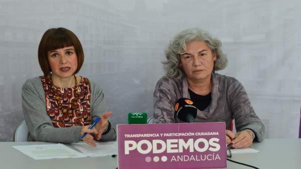 Lucía Ayala (Podemos) y Antonia Fernández (Tú Decides)