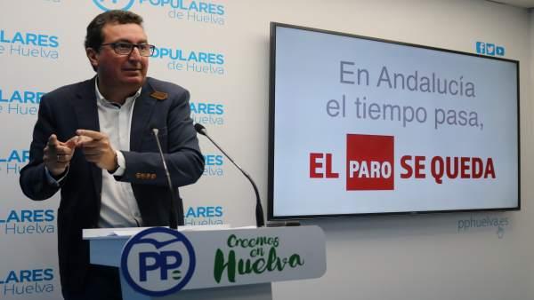El presidente provincial del PP de Huelva, Manuel Andrés González.