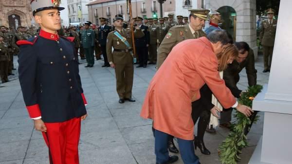 Acto desarrollado frente al Palacio Real de Valladolid.