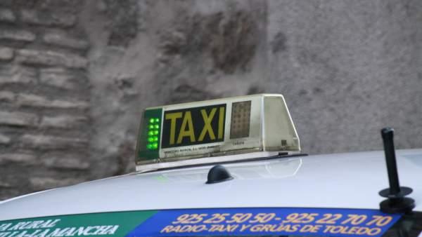 Taxi, Calle, Carretera, Coche