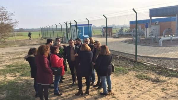 Diputados, alcaldes y dirigentes del PSOE del Parque Nacional de Doñana