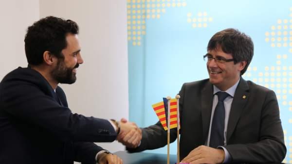 Torrent y Puigdemont.