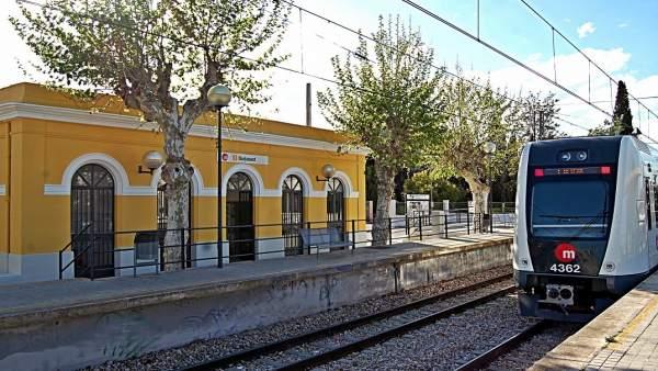 Estación de Metrovalencia en Burjassot