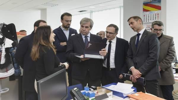 De la Sierra visita el Palacio de Justicia y las instalaciones del nuevo juzgado