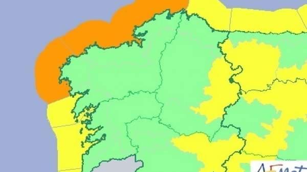 Avisos de temporal en Galicia