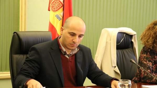 El secretario general de FeUSO, Ismael Alonso, en el Parlament
