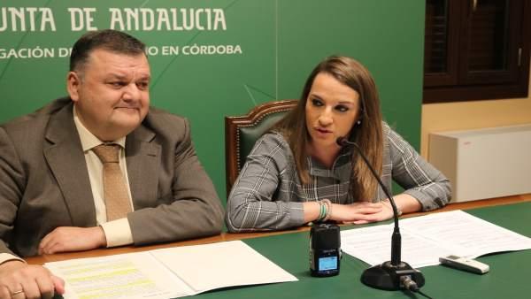 Zurera y Ruiz en la rueda de prensa