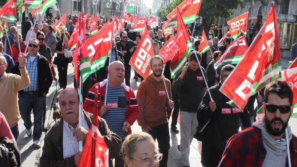 Manifestación de CCOO.