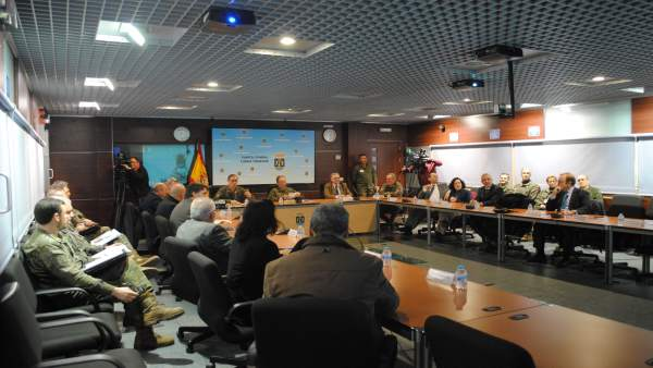 Recepción en el Cuartel de la Fuerza Terrestre por el día de los periodistas