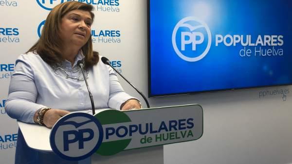La parlamentaria andaluza del PP por Huelva, Carmen Céspedes.