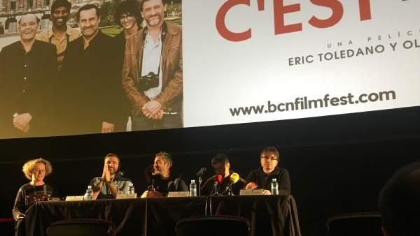 Los directores de la película francesa 'C'est la vie', que encabeza la programación de la edición 2018 del BCN Film Fest.