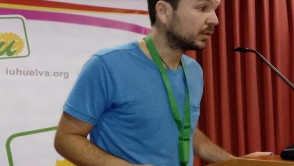 El responsable de Memoria Histórica  de IU en Huelva, Félix Ramos.