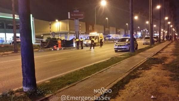 Atropello mortal en la carretera Su Eminencia de Sevilla