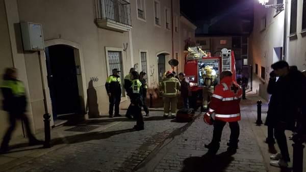 Incendio en Cáceres
