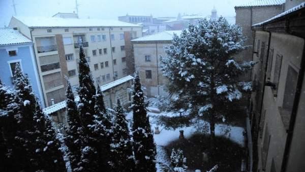 Nieve en Teruel.