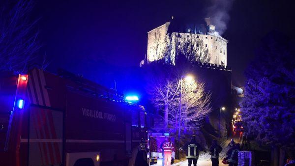 Incendio en la abadía de San Michele