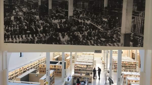 La nueva biblioteca Montserrat Abelló de Les Corts.