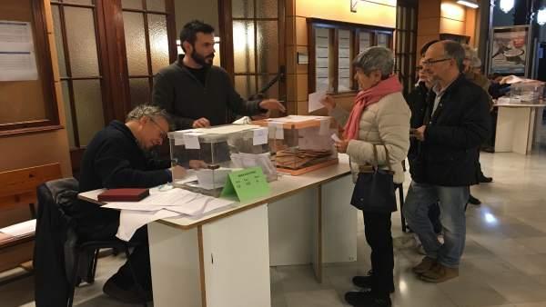 Mesa electoral el 20D
