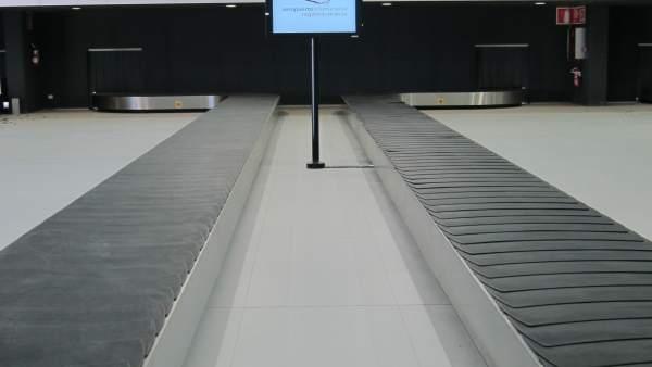 Recogida de equipajes del aeropuerto de Corvera