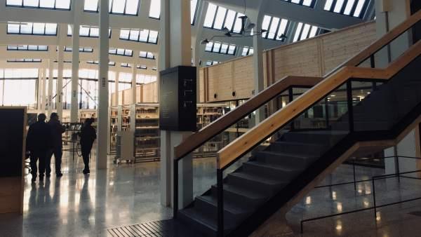 La nueva biblioteca de Les Corts.