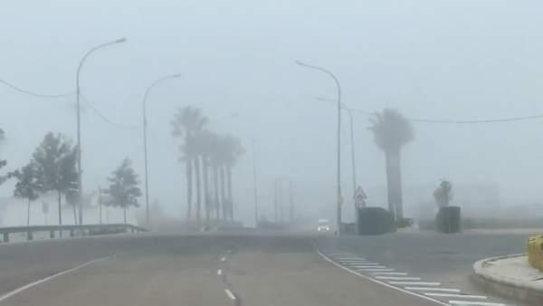 Niebla en la mañana de este jueves en Cheste (Valencia)