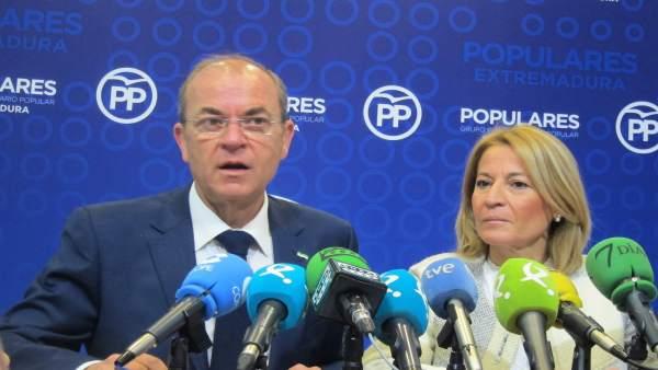 Presidente del PP de Extremadura, José Antonio Monago