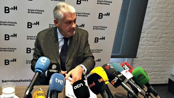 El presidente del Gremio de Hoteles de Barcelona, Jordi Clos.