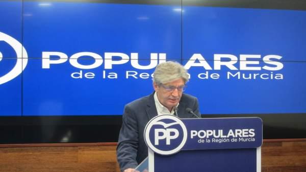 El coordinador general del Partido Popular de la Región de Murcia, Miguel Ángel
