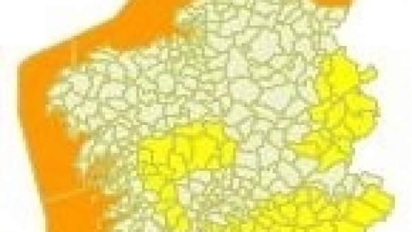 Alerta en el litoral gallego