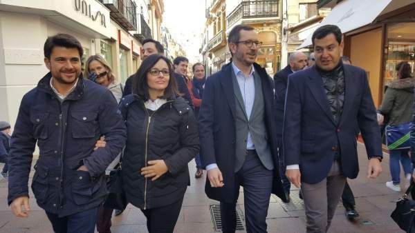 Javier Maroto, hoy junto a Juanma Moreno, Beltrán Pérez y Virginia Pérez