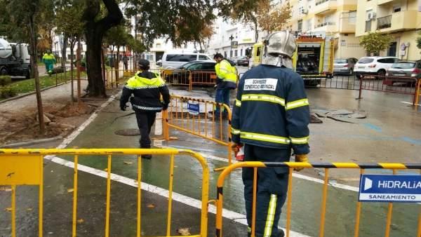 Intervención de Bomberos en Cádiz