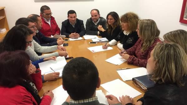 Reunión del PSOE de Huelva sobre  cuestiones transfronterizas.