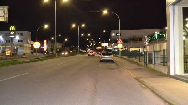 Interceptado un conductor a 153 km/h en un tramo de 50 en Oleiros