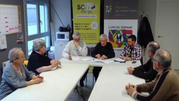 Entre Tots i per al Bé de Tothom, Obispado de Lleida y Som Energia
