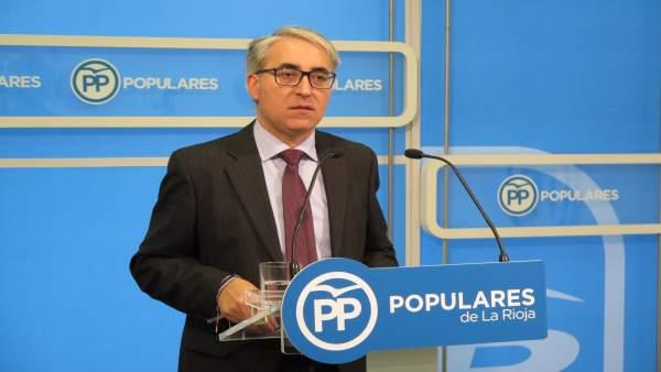 El portavoz del PP, Jesús Ángel Garrido