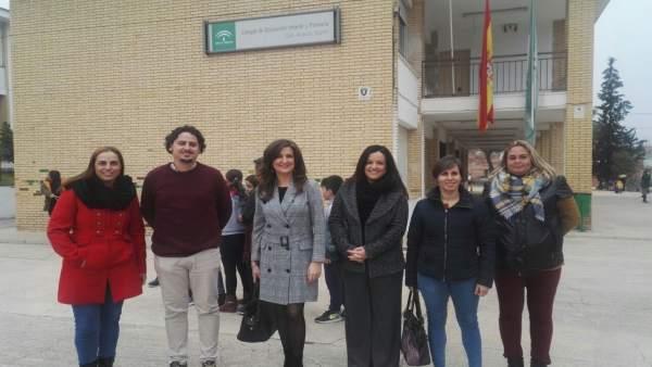 Visita al colegio San Vicente Mártir de Mogón.