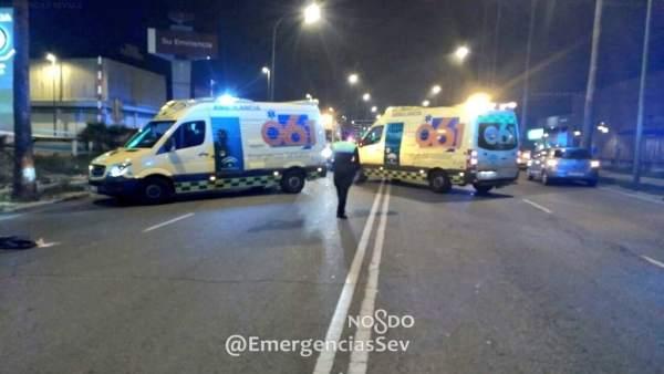 Atropello mortal a un ciclista en la carretera Su Eminencia de Sevilla