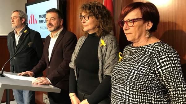 Jordi Coronas, Alfred Bosch, Montserrat Benedí y Trini Capdevila.