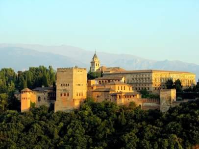 Vistas de la Alhambra de Granada.