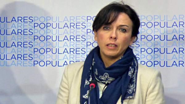 María Luisa Ceballos en la sede del PP