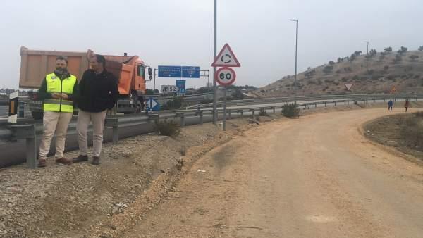 Obras de mejora en vías de servicio de la A-316 vinculadas a la variante de Jaén