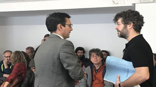 El alcalde de Granada junto a Pablo Heras-Casado