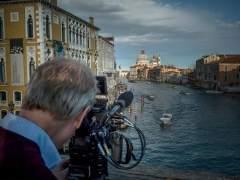 Fotografía tomada durante el rodaje del documental 'Canaletto y el arte de Venecia'