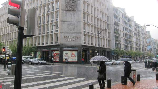 Lluvias en Bilbao